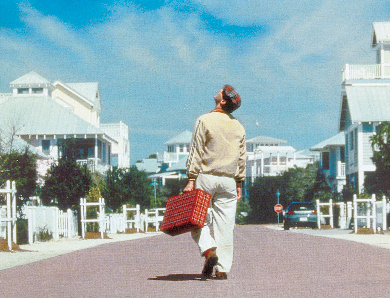 open platform for art culture and the public still from the truman show 1998 filmed in seaside florida seaside is an example of a gated community for the wealthy