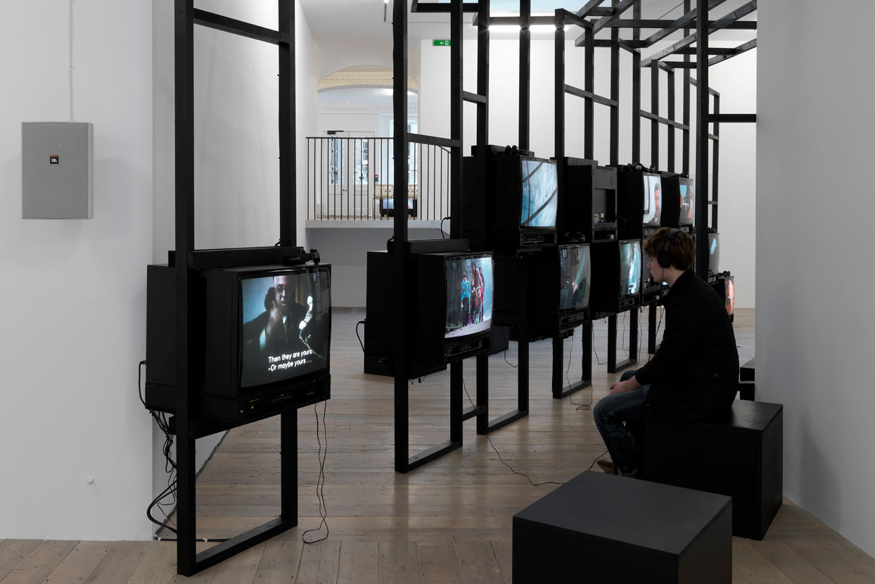 open platform for art culture and the public disobedience an ongoing video archive 2011 raven row london display by xabier salaberria courtesy raven row